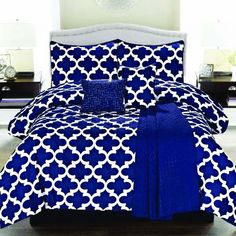Found it at Wayfair - Cameron 5 Piece Comforter Set, blue bedding #cobalt