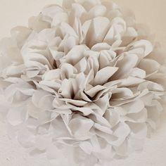 Cool Gray Paper Pom