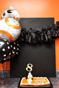 It's Great to BB-8 {Free Printable} – Dixie Delights Girls Star Wars Party, Star Wars Birthday, 8th Birthday, First Birthday Parties, First Birthdays, Bb8, Birthday Treats, Diy Party Decorations, Party Time