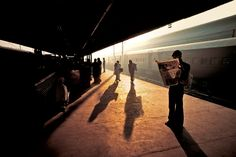Steve McCurry. INDIA. Old Delhi. 1983. The Old Delhi Train Station, India 1983, in an uncharacteristically quiet moment. The station and surrounding area are typically so crowded that traffic frequently comes to a standstill. (INDIA-10204)