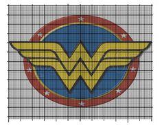 Wonder Woman Logo cross stitch