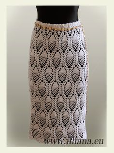 Crochet skirt, pineapple design