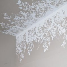 """""""Branch Out"""" hand-printed wallpaper border.  Noted for surreal and provocative textiles and wallpapers, the design studio, Timorous Beasties, was founded in Glasgow in 1990 by Alistair McAuley and Paul Simmons, who met studying textile design at Glasgow School of Art."""