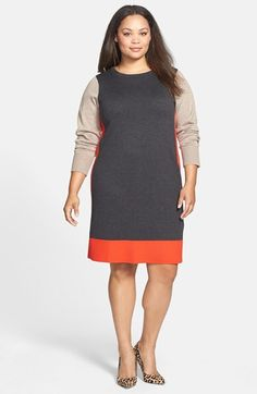Eliza J Colorblock Sweater Dress (Plus Size) available at #Nordstrom