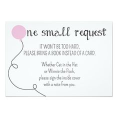 Pink Ready to Pop Baby Shower Book Request Card