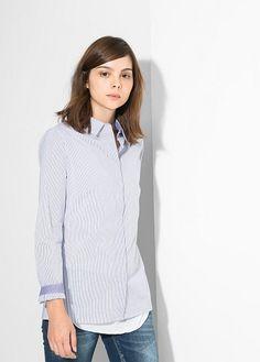 Camisa riscas - Blusas e camisas de Mulher   OUTLET