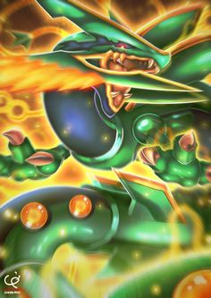 HEAVENS WRATH - MEGA RAYQUAZA'S ASCENT by CHOBI-PHO.deviantart.com on @deviantART