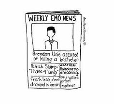 I love to read the weekly emo news