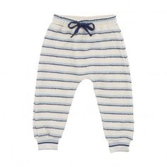 Meo Striped Joggers Ecru  Soft Gallery