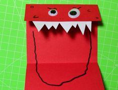 Karte / Einladung  - Monster aus Papier falten / basteln - Kindergeburtstag - schaurig lustig - Ich mach jetzt - Happy Shabby