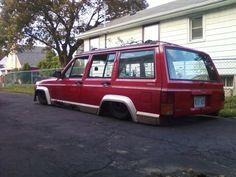 Slammed Jeep Cherokee