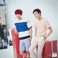 Chanyeol, Sehun - 160711 Lotte Duty Free facebook update Credit: Lotte.