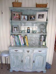 Restyled Vintage: The Sage Green Hutch Dresser