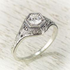 vintage filigree rings