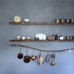 Love the wavy utensil rail so zen spa kitchen via @local_milk on instagram