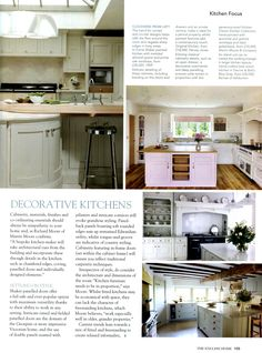 Classic Kitchen Collectio From Martin Moore & Co - The English Home September 2013 http://www.martinmoore.com/