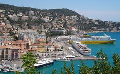 View of the port of Nice.