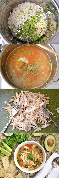 Chicken & Lime Soup ~ This is a remake of caldo xochitl recipe. What we have here is the perfect mix between spicy, salty, and sour. I highly suggest adding a few cubes of avocado because the creaminess perfectly balances the other sharp flavors. If avocados aren't affordable, try sour cream or some cheese. This soup is tasty, is filling, and freezes well. This soup is where it's at.