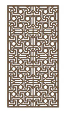 islamic v3 fretwork Laser Cut Screens, Laser Cut Panels, Laser Cut Metal, 3d Laser, Screen Design, Roof Design, Jaali Design, Wooden Partitions, Iron Wall Decor