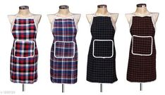 Aprons Beautiful Elite Colourful PolyesterApron Fabric: Polyester Size: 28 in x 19 In Description: It Has 4 Piece Of Apron Pattern: Checkered Sizes Available: Free Size *Proof of Safe Delivery! Click to know on Safety Standards of Delivery Partners- https://ltl.sh/y_nZrAV3  Catalog Rating: ★4 (5456)  Catalog Name: Free Mask Beautiful Elite Colorful Polyester Aprons CatalogID_165537 C129-SC1633 Code: 632-1298129-