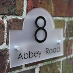 8 Abbey Road Frosted House Sign