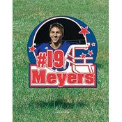 Football Helmet Personalized Photo Yard Signs