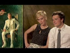 ▶ 'Catching Fire' Cast React to Portraits Jen's reactions are still the best! i love papaya :p