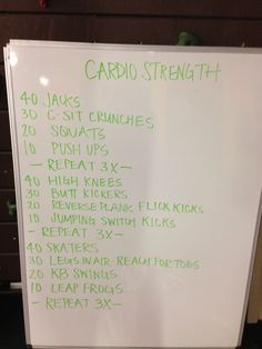 Super fun cardio circuit set!!!! See if you can get through it 3-4 times!!