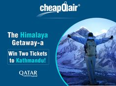 Enter your email for chance to win a trip to Kathmandu, Nepal on Qatar Airways. The winner will win two airline tickets on Qatar Airways.
