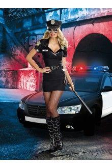 6 PC Dirty Cop Officer Anita Bribe Costume