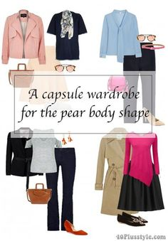 A capsule wardrobe for the pear body shape | http://40plusstyle.com