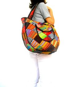 Tote bag Lady Women Bag Ethnic bag  Patchwork Bag  Bohemian Bag Multi color Bag Shoulder Bag Hippie Boho Purse Messenger Gift Bag by Avivahandmade on Etsy