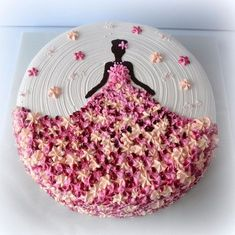 56 Trendy birthday cake decorating ideas kuchen You are in the right place about Birthday Cake Here we offer you the most beautiful pictures about the cute Birthday Cake you are l Cake Decorating Techniques, Cake Decorating Tips, Cookie Decorating, Fondant Cakes, Cupcake Cakes, Sweets Cake, Dress Cupcakes, Baking Cupcakes, Amazing Cakes