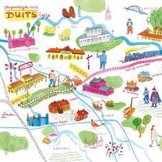 Fun commission; illustrated map I made for @mestmagazine #10.   By Marjolein Schalk.  #map #plattegrond #illustration #illustratie #mestmag #brabant #veghel #oss #boxtel #denbosch #eindhoven #ink #illustratedmap