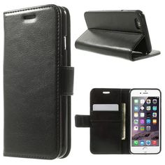 Köp Läderplånbok Premium Apple iPhone 6/6S svart online: http://www.phonelife.se/laderplanbok-premium-apple-iphone-6-6s-svart