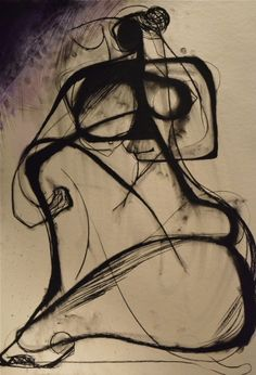 Anger Creeping In, charcoal and acrylic on paper -- Carmel Jenkin
