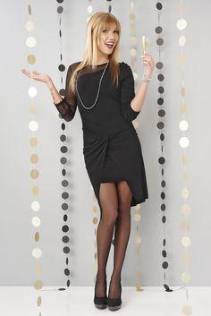 La petite robe noire courte devant longue derrière et drapée sera la star cette  année!  robe ec7720dde03b