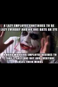 Lazy employees