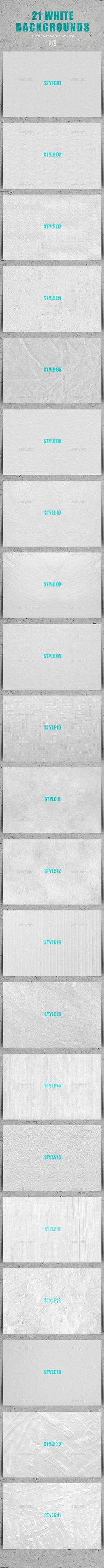 21 White Backgrounds #graphic #envatomarket #envato #download #abstract #backdrop #canvas #clean #grunge #minimal #old #paper #retro #background #simple #snow #studio #background #subtle #template #background #texture #tileable #vintage #wall #watercolour #web #white #white