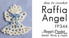 Crochet Pattern RT HAND - FREE How To - Raffia Angel Ornament - This is a FREE crochet pattern # at . The crochet pattern can be worked using Rafia, light worsted weight yarn or sport weight yarn. We have lots of patterns for sale with many Crochet Angels, Crochet Cross, Thread Crochet, Love Crochet, Learn To Crochet, Crochet Projects, Sewing Projects, Crochet Tutorials, Video Tutorials