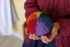 Waldorf 1st grade handwork : rainbow ball by Frontier Dreams, via Flickr