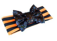 Pre order Halloween headbands Black and by MooseandHippodesigns