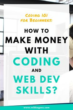 How can you start making money with your coding and web development skills? Learn Programming, Computer Programming, Programming Languages, Coding Languages, Python Programming, Design Websites, Coding For Beginners, Computer Coding, Computer Science
