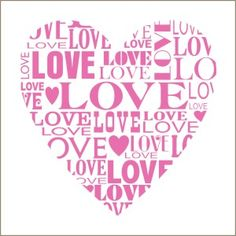 Typography style is everywhere and now you can add it to your wall with this stylish heart wall decal that's filled with all kinds of love. Description from stencilsanddecals.com. I searched for this on bing.com/images