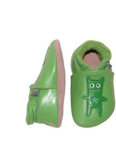 Lederen sloefjes groen 'frankie'   Kousen   Accessoires