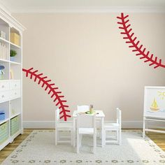 The best way to incorporate your favorite hobby into your decorating. This baseball stitching wall decal set is perfect to show everyone what