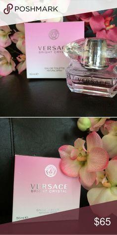 Versace Bright Crystal Versace Bright Crystal perfume,1.7 fl oz bottle, 80% left, very nice scent Versace Accessories