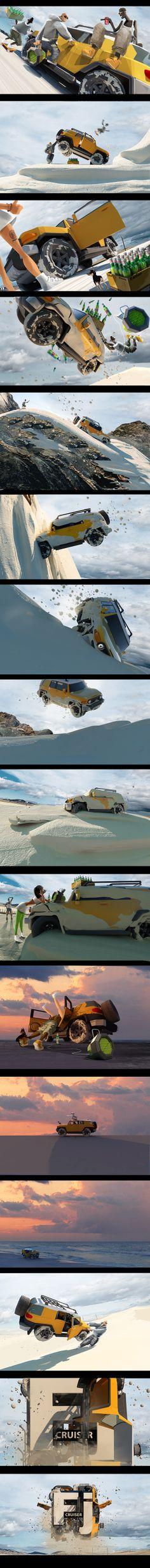 Promo for FJ_CRUISER_2012 by egor antonov, via Behance