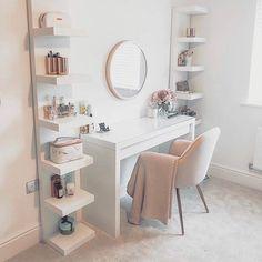 Cute Bedroom Decor, Bedroom Decor For Teen Girls, Room Design Bedroom, Teen Room Decor, Stylish Bedroom, Room Ideas Bedroom, Home Room Design, Office Room Ideas, Bedroom Ideas For Small Rooms