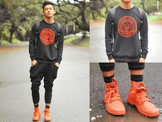 Lacoste Sweater, Palladium Monochrome Boots